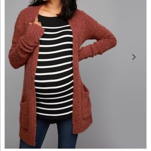 Luxe Essentials Cuffed Maternity Sweater